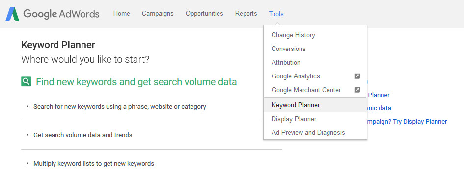 @iPower plc - Higher in Google - Start up Keyword Planner
